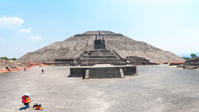 Pyramid of the Sun, Teotihuacan Pyramids, Mexico Royalty Free Stock Photos