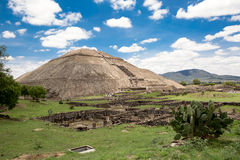 The pyramid of the Sun in Teotihuacan Stock Photography