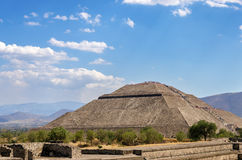 Pyramid of the Sun View Stock Photography