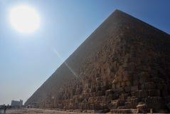 Pyramid with sunbeam Stock Photo