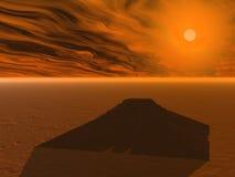 Pyramid at the sunset vector illustration