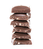 Pyramid from sweet chocolate Royalty Free Stock Photo