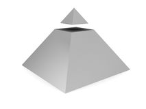 Pyramid symbol Royalty Free Stock Photography