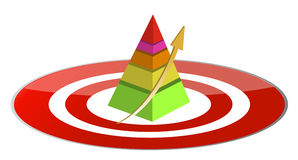 Pyramid target illustration stock illustration