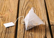 Pyramid tea bag Stock Photography