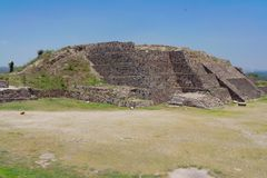 Pyramid Temple in Tula Mexico Royalty Free Stock Image
