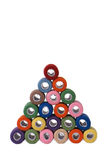 Pyramid of threads (45 degrees) Stock Image