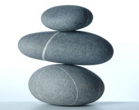 Pyramid of three stones-2 Stock Photos