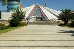 Pyramid at Tirana, Albania stock photos