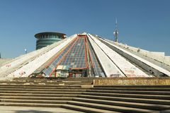 Pyramid at Tirana, Albania Royalty Free Stock Photography