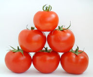 Pyramid tomatoes Stock Photo