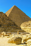 Pyramid and tombs Stock Photos