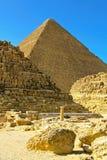 Pyramid and tombs Stock Photos