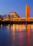 Pyramid and Tower Bridge in Sacramento Stock Photos