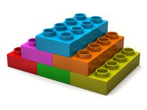 Pyramid from toy bricks Royalty Free Stock Images