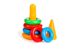 Pyramid toy dismantled Royalty Free Stock Photos