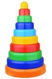 Pyramid toy isolated on white background Royalty Free Stock Image