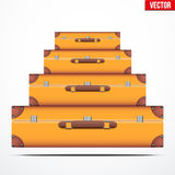 Pyramid of the vintage suitcases Royalty Free Stock Photos