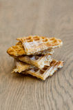 Pyramid of waffel slices Royalty Free Stock Image