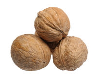 Pyramid of walnuts Stock Image