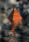 Pyramid in water royalty free illustration