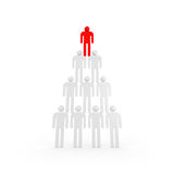 Pyramid of white abstract 3d people Royalty Free Stock Photos