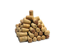 Pyramid from wine corks Royalty Free Stock Photo