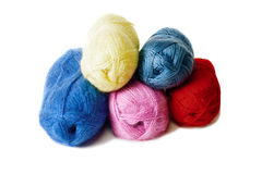 Pyramid of yarn for knitting Royalty Free Stock Photos