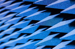Pyramidal Absorbers -  Sound proofing. Excellent absorption over a broad frequency range Stock Images