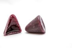 This pyramidal cuberdons. This pyramid shape of an cuberdons is a very tasty candy from Ghent Royalty Free Stock Photos