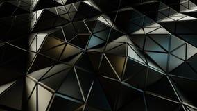 Pyramidal grey surface futuristic polygonal shape 3D rendering. Pyramidal grey surface. Futuristic polygonal shape. 3D rendering Stock Photography