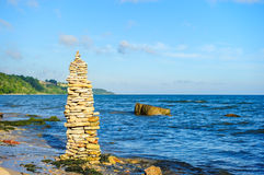 Pyramidal group of stones Stock Images