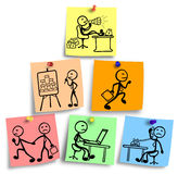 Pyramidal illustration of multi level marketing concept. Stock Images