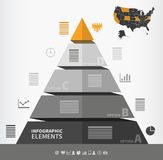 Pyramidal infographic element Royalty Free Stock Images