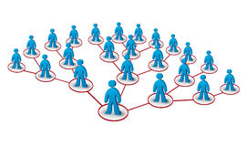 Pyramidal marketing. Multilevel marketing network concept with human figures Royalty Free Stock Photos
