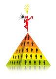 Pyramidal marknadsföring Royaltyfri Fotografi