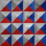 Pyramidal pattern - seamless background - red-blue Colors. Pyramidal pattern - seamless background - red-blue national colors - wood texture Royalty Free Stock Photo