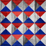 Pyramidal pattern - seamless background - red-blue Colors. Pyramidal pattern - seamless background - red-blue national colors - wood texture Stock Photography