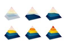 Pyramidal progress or loading bar royalty free illustration