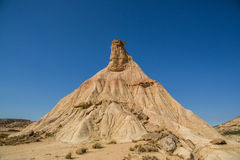 Pyramidal rock formation erosion Stock Images
