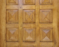 Pyramidal shaped  wooden door detail Royalty Free Stock Photography