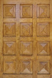 Pyramidal shaped  wooden door detail Stock Image
