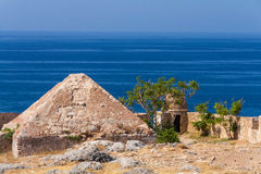 Pyramidal vault. Of Retimno fortress. Crete, Greece Stock Image