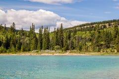 Pyramidberg Patricia Lake Jasper National Park Alberta, Kanada Royaltyfria Foton