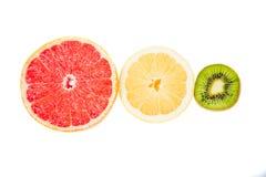 Pyramiddiagram av frukter, överkant, trafikljus Royaltyfri Fotografi