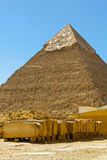 pyramide石头 库存图片