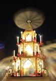 pyramide ночи рынка рождества Стоковое Изображение RF