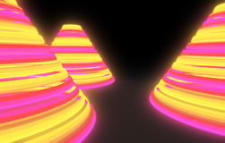 Pyramide abstraite Image libre de droits
