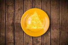 Pyramide alimentaire tirée par la main de plat coloré de plat Photo stock