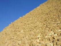 Pyramide and the blue sky Royalty Free Stock Image